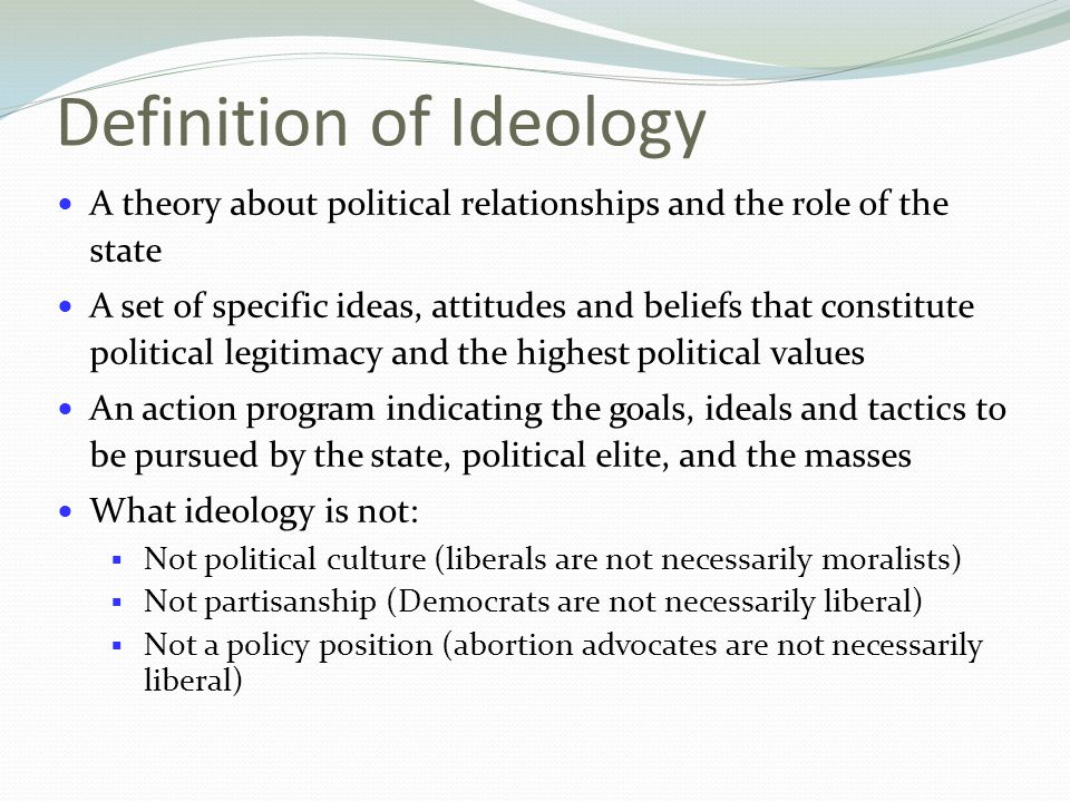 A Collection of Ideas POLITICAL IDEOLOGY  ppt video online download