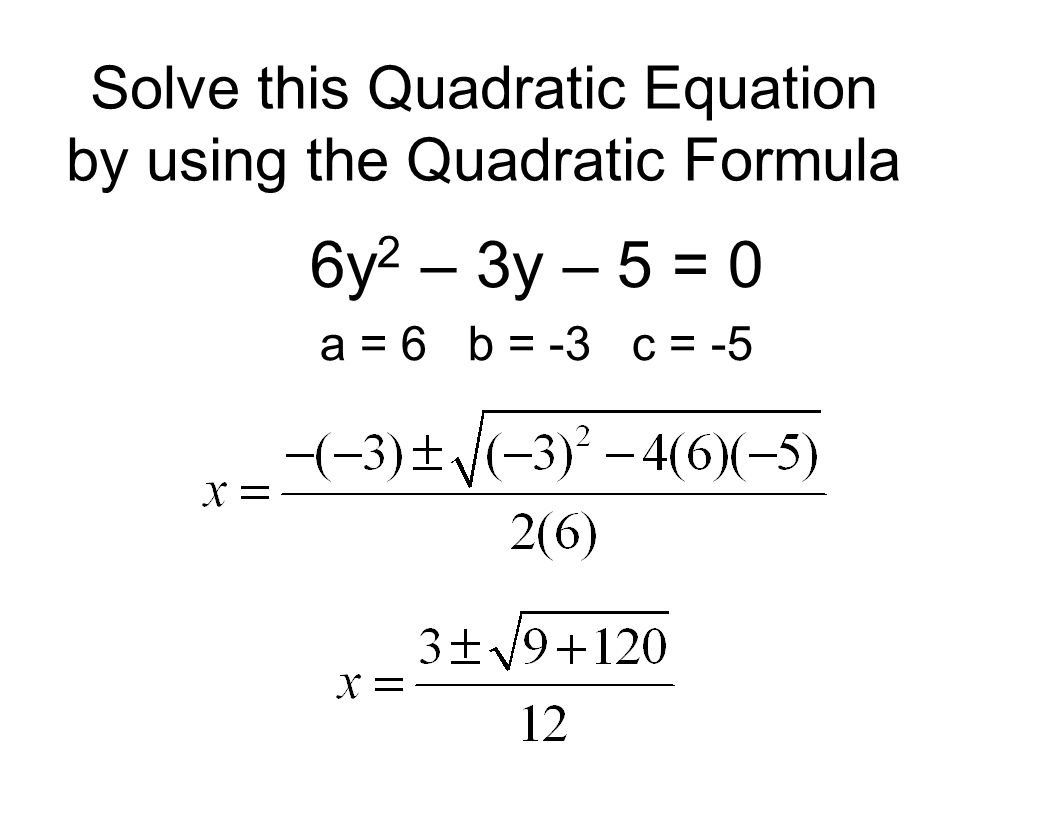 Quadratic Equations Msjc San Jacinto Campus