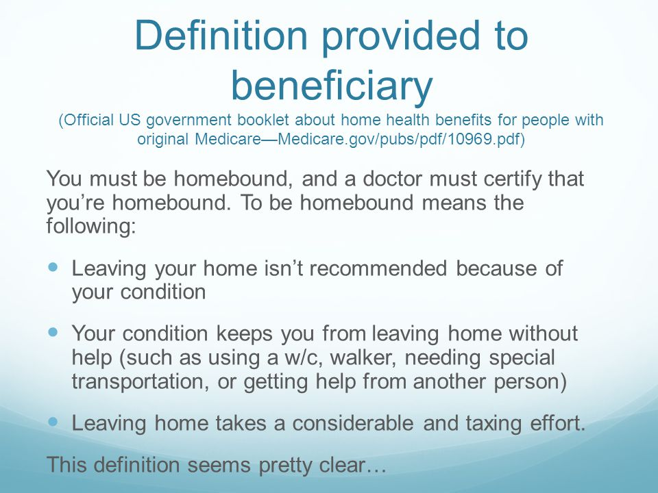 Understanding and Documenting Homebound Status  ppt video