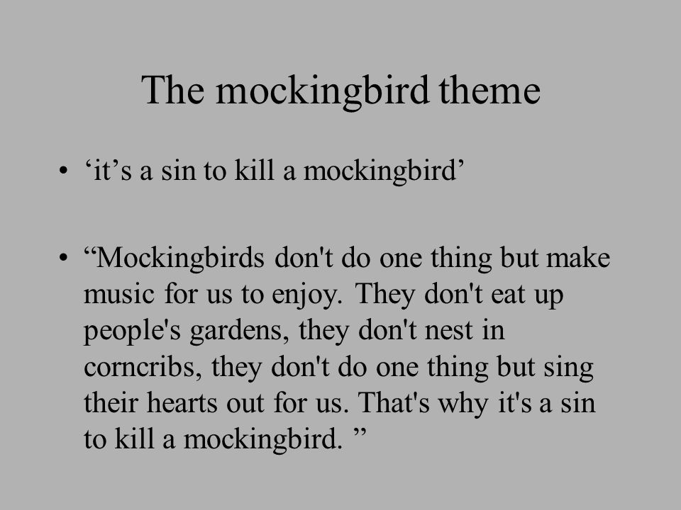 TO KILL A MOCKING BIRD Learning Outcomes Ppt Download