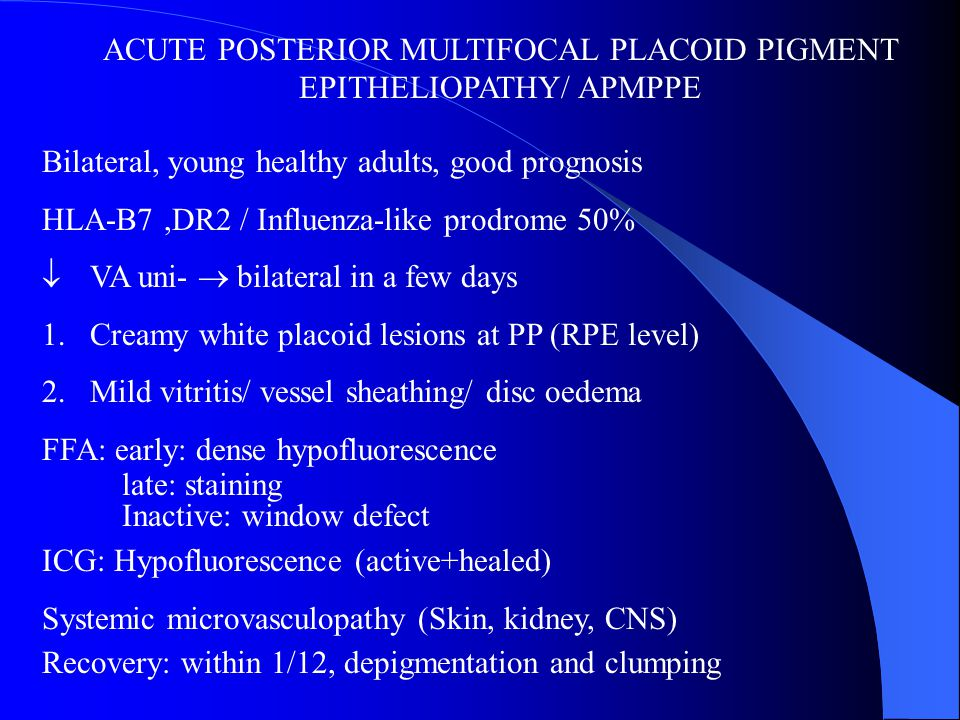 IDIOPATHIC MULTIFOCAL WHITE DOT SYNDROMES Ppt Video