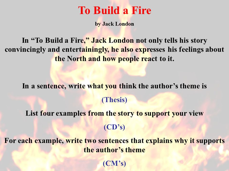 What Is The Thesis In The Story Jack London Coursework Writing Service