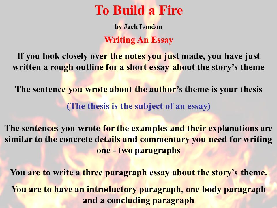 To Build A Fire Essay Naturalism And Naturalist Elements In Jack