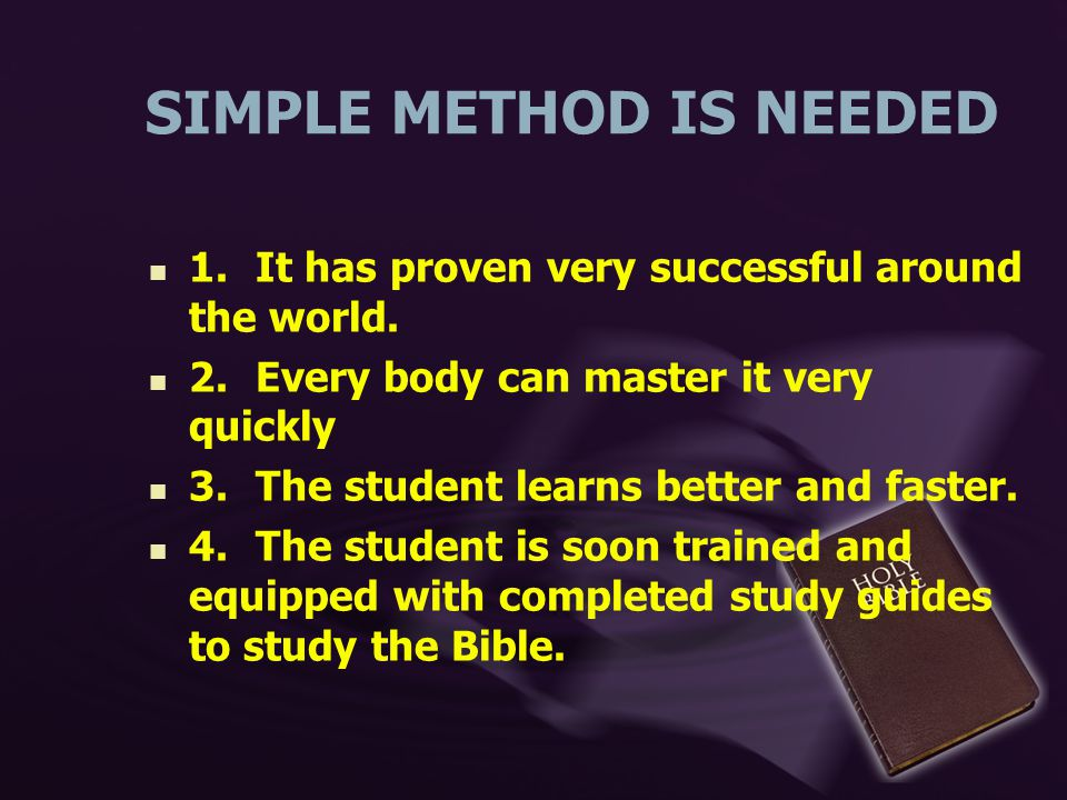 Simple Method Of Giving Bible Study  Ppt Video Online Download
