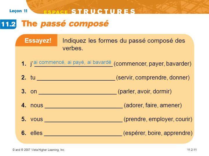 french passe compose essayer Essayer : définition, synonymes, citations, traduction dans le dictionnaire de la langue française définition : tester quelque chose.