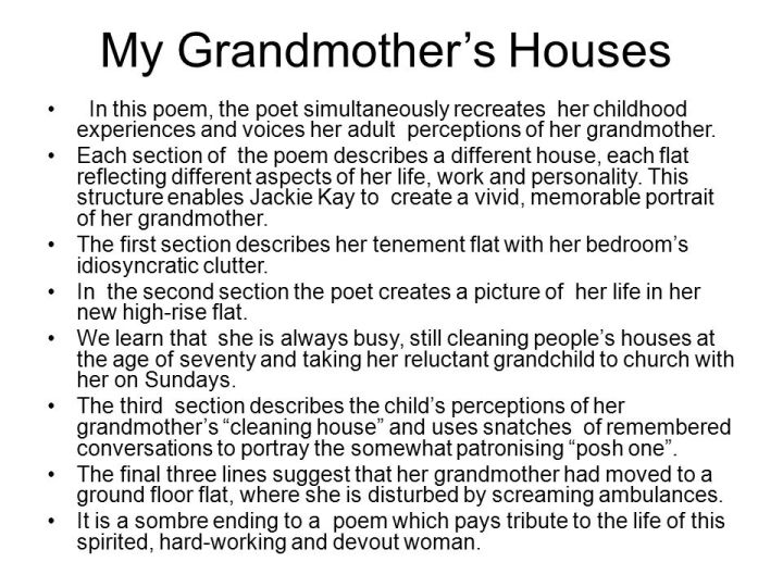 Short essay on my grandmother