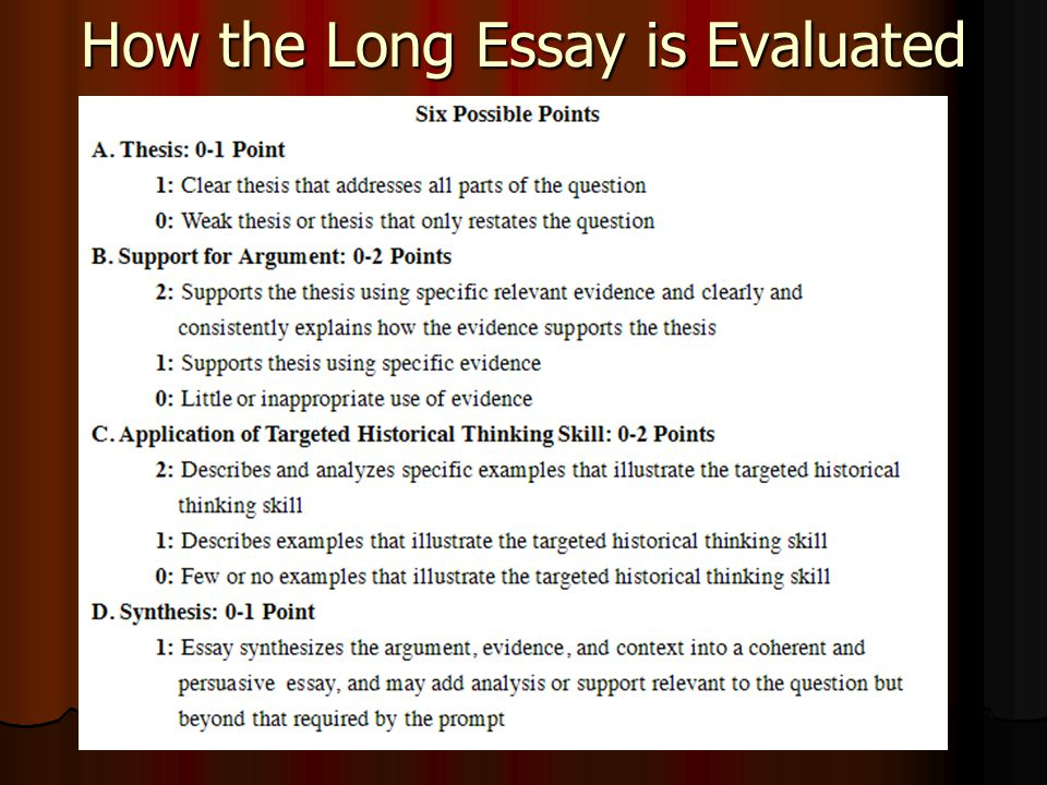 How To Write an APUSH Thesis Statement  How to Tackle the Long Essay  ppt download