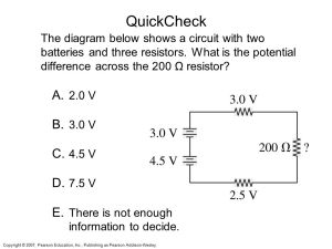 Chapter 23 Circuits Topics: Sample question:  ppt video