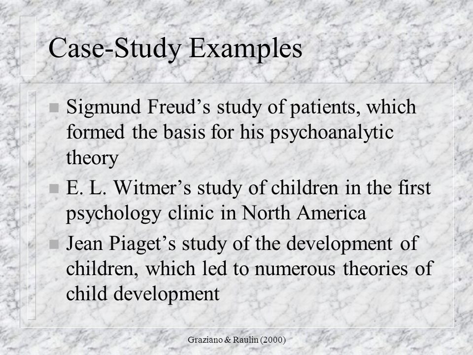 Case study on child development example