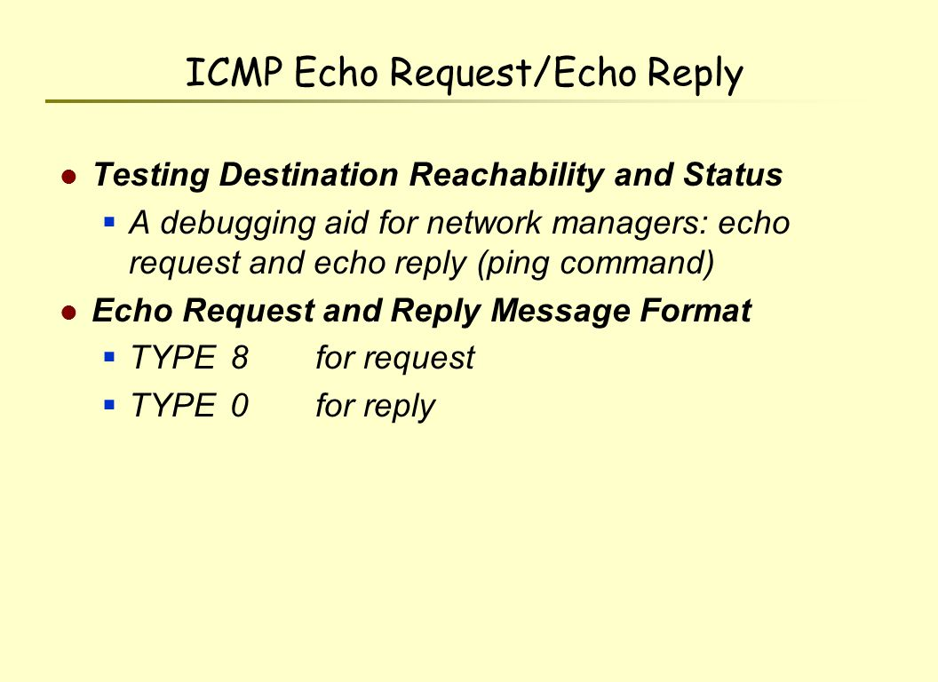 Internet Control Message Protocol ICMP Ppt Download