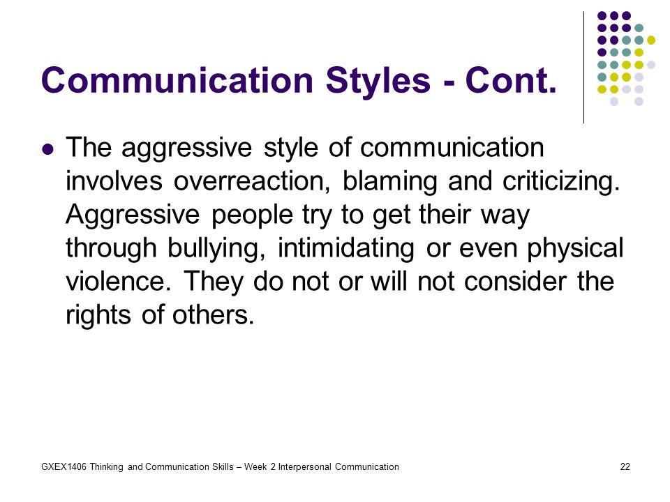 interpersonal communication involves