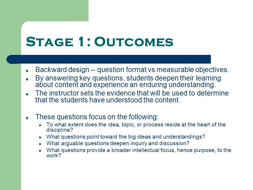 Process Vs Outcome Objectives