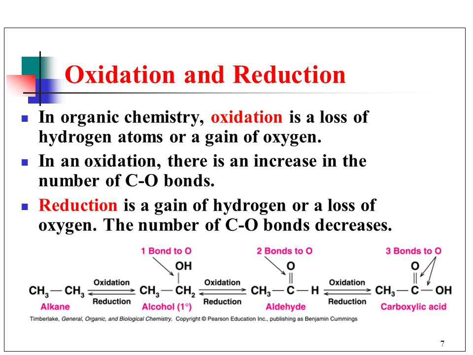 10 8 oxidation and reduction in organic chemistry