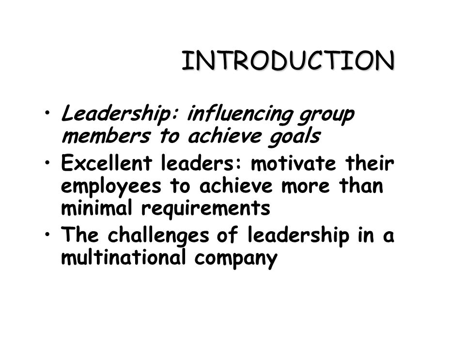 LEADERSHIP AND MANAGEMENT BEHAVIOR IN MULTINATIONAL