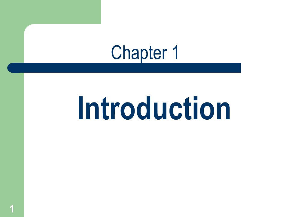 Chapter 1 Introduction  Ppt Download