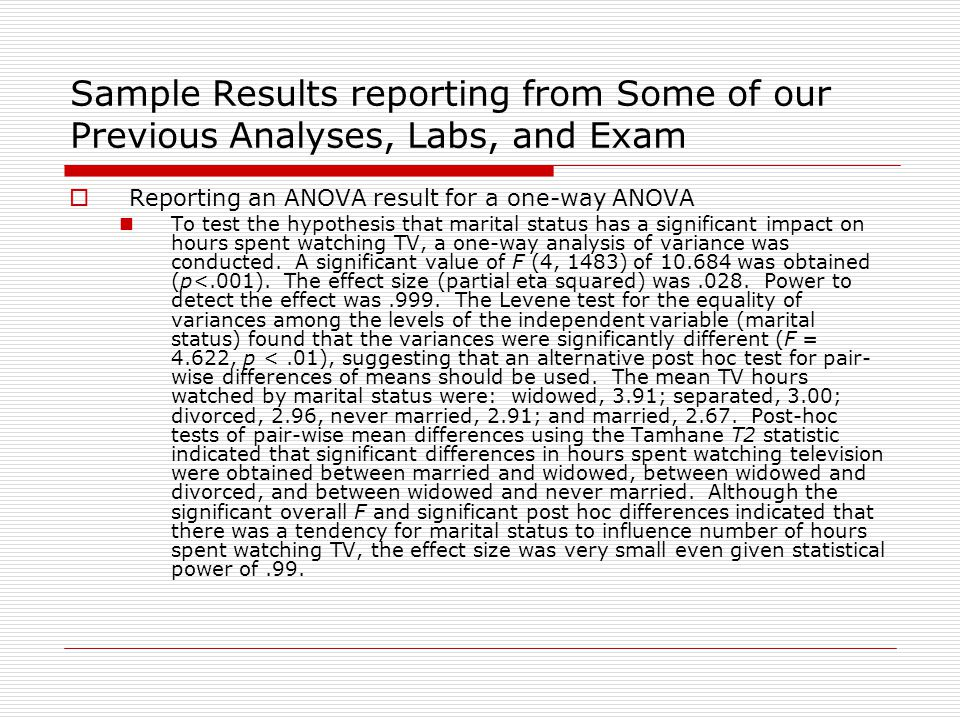 Writing The Results Section Ppt Download