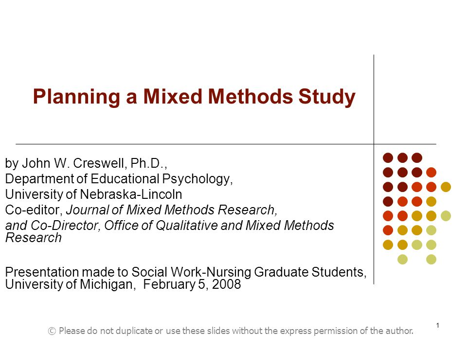 Planning A Mixed Methods Study Ppt Video Online Download