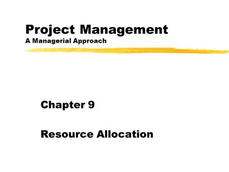 Chapter Understand and apply key scheduling terminology. 2