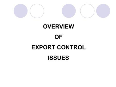 Office of Export Enforcement Bureau of Industry and