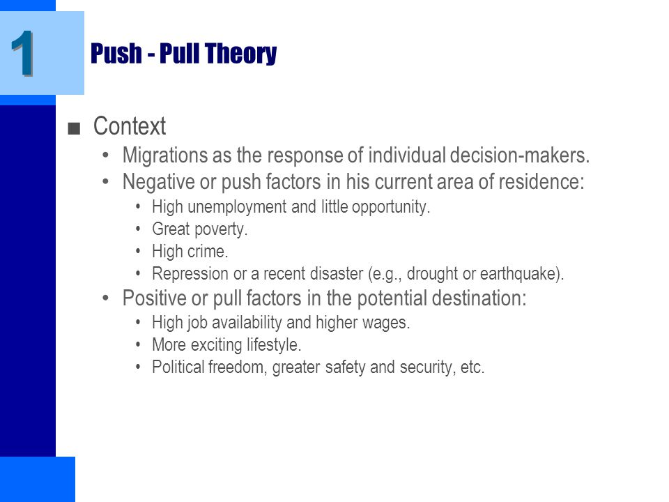 push and pull theory in relationships