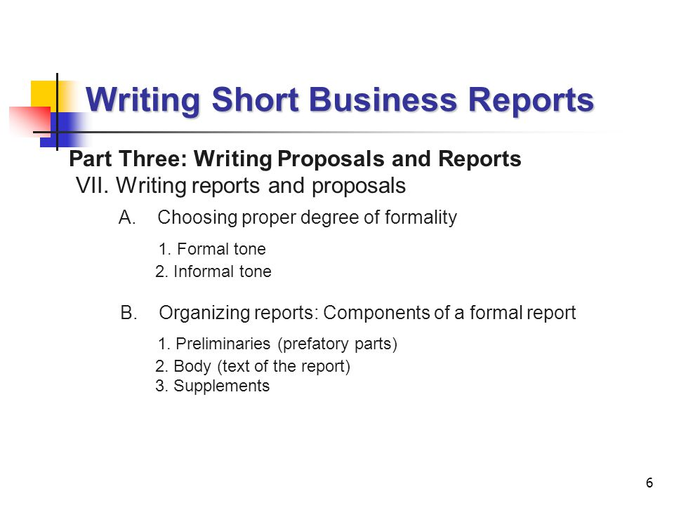 Lecture 4 Writing Short Business Reports Ppt Video