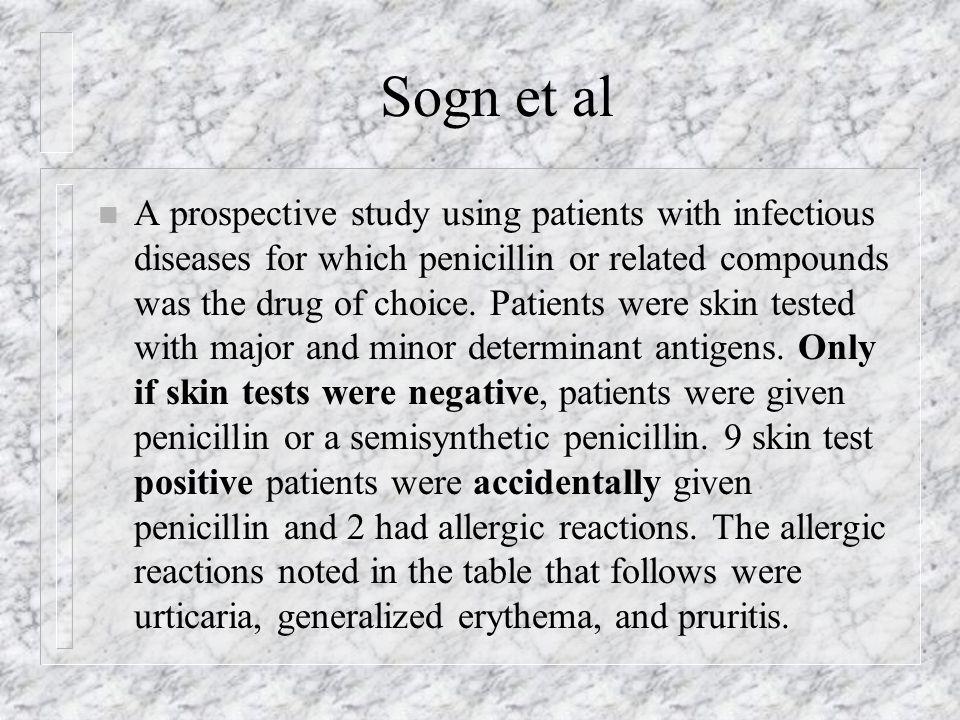 Penicillin, Aspirin and Sulfa Drugs Diagnosis and
