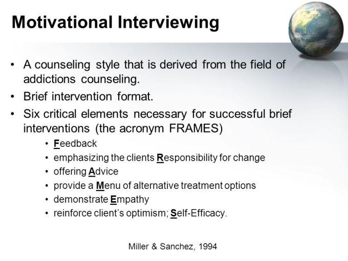 Frames Model Motivational Interviewing   Frameimage.org