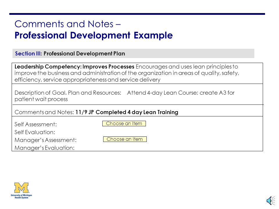 Self Appraisal Areas Improvement Examples