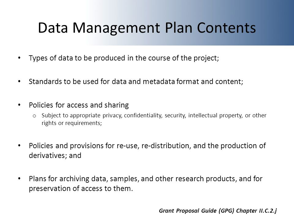 NSF Data Management Plan Requirements Alex Kanous Ppt