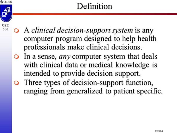 Clinical Decision Support Systems ppt download