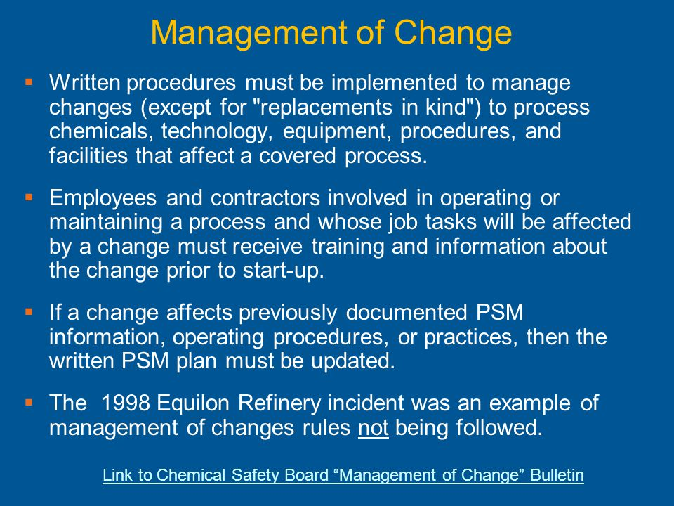 Process Safety Management PSM Ppt Download