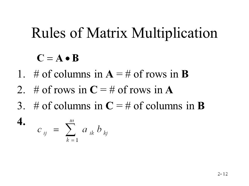 Chapter 2 Matrices Definition Of A Matrix Ppt Video