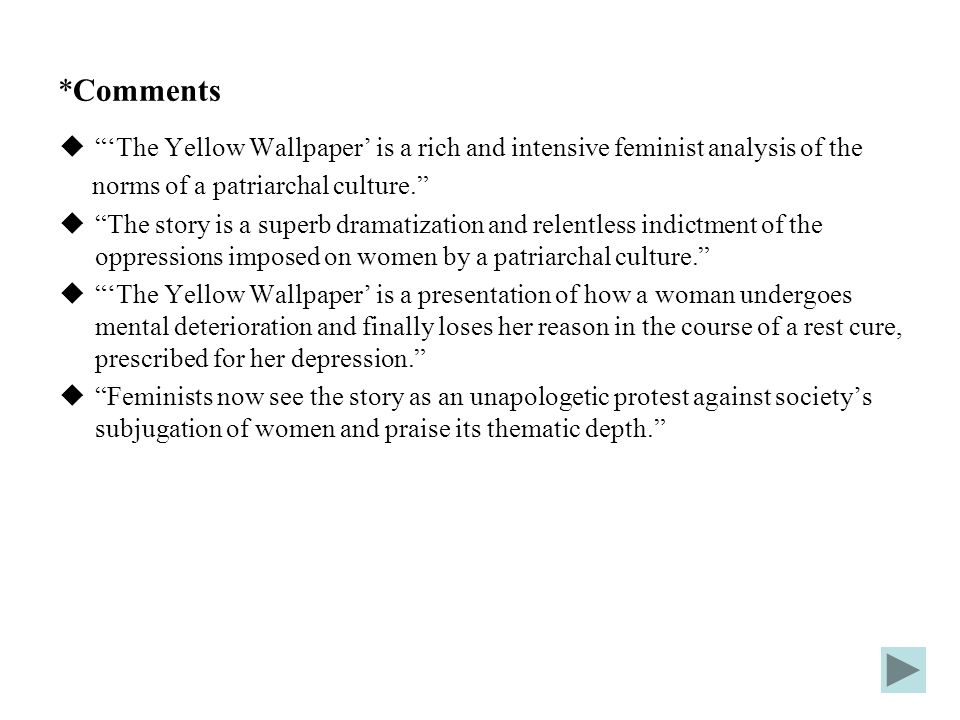 The Yellow Wallpaper Feminist Thesis Statement Essay Academic