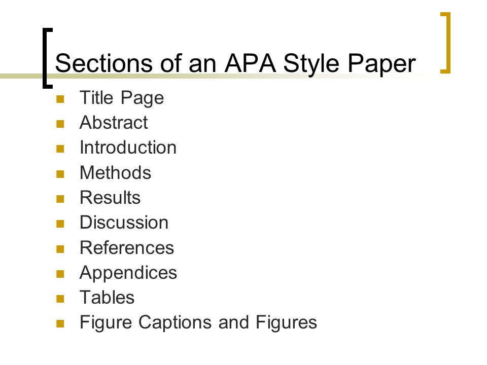 body of research paper with headings apa example