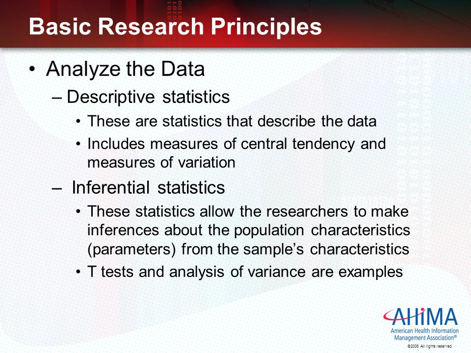 Calculating & Reporting Healthcare Statistics Ppt Video Online
