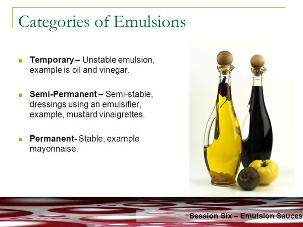 Emulsion Sauces Hot Cold ppt video online download