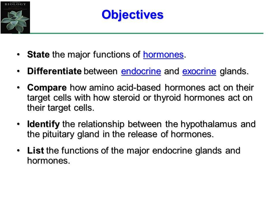 Amino Acid Based Hormones