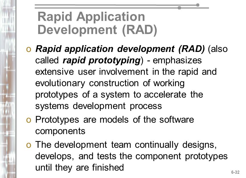Chapter 6 SYSTEMS DEVELOPMENT Phases, Tools, and