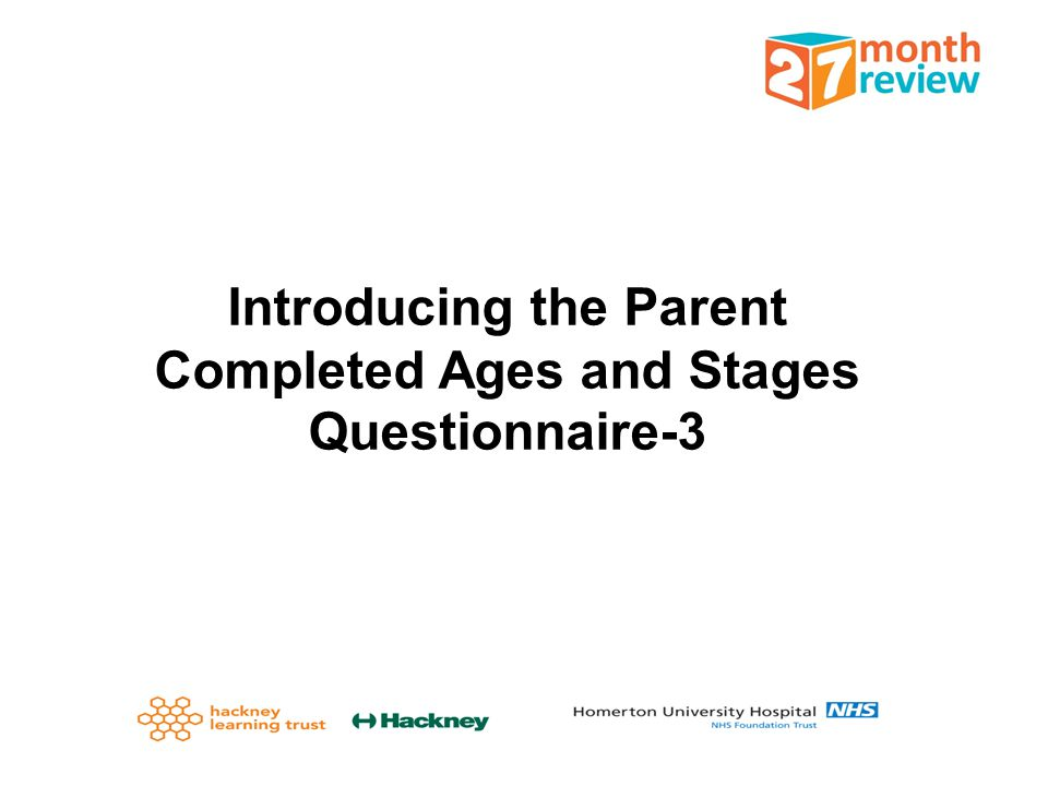 Introducing the Parent Completed Ages and Stages