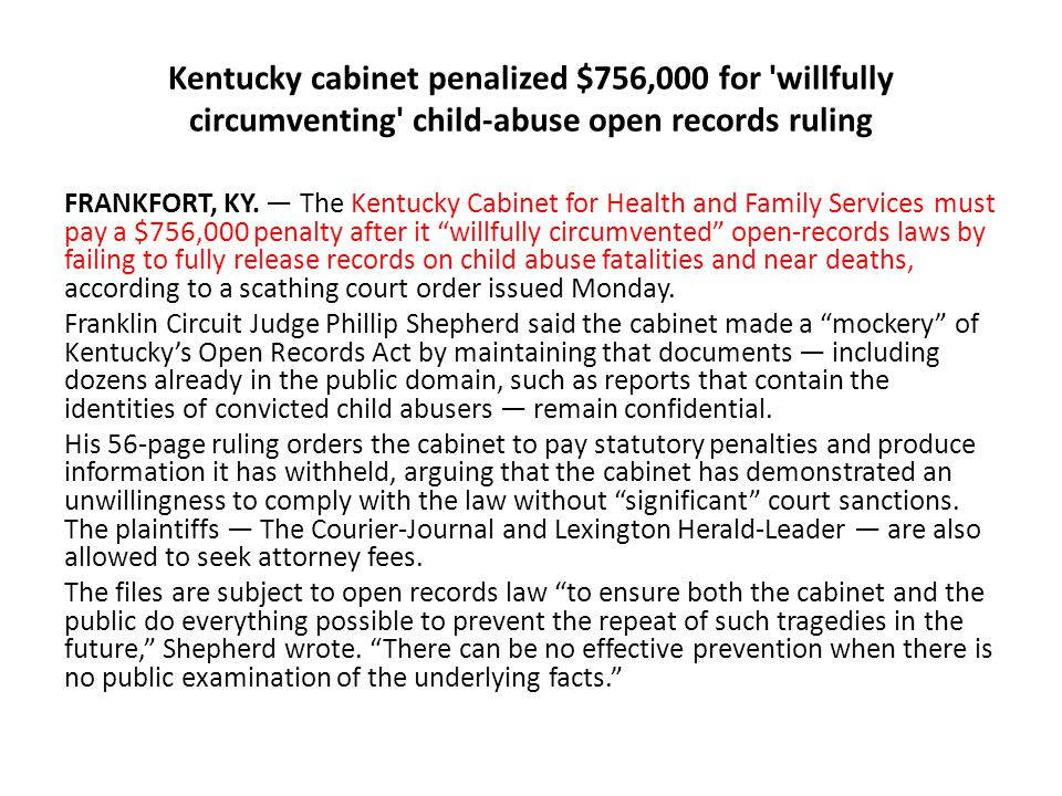 Kentucky Cabinet For Health And Family Services Food Stamps