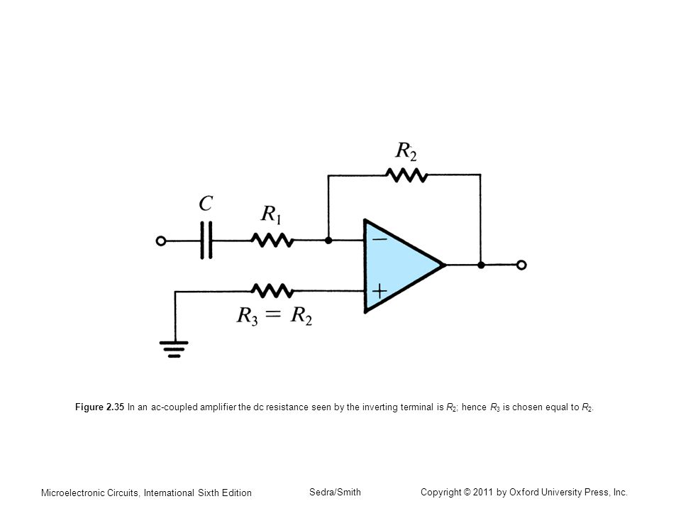 ac coupled inverting amplifier topology (drain resistor