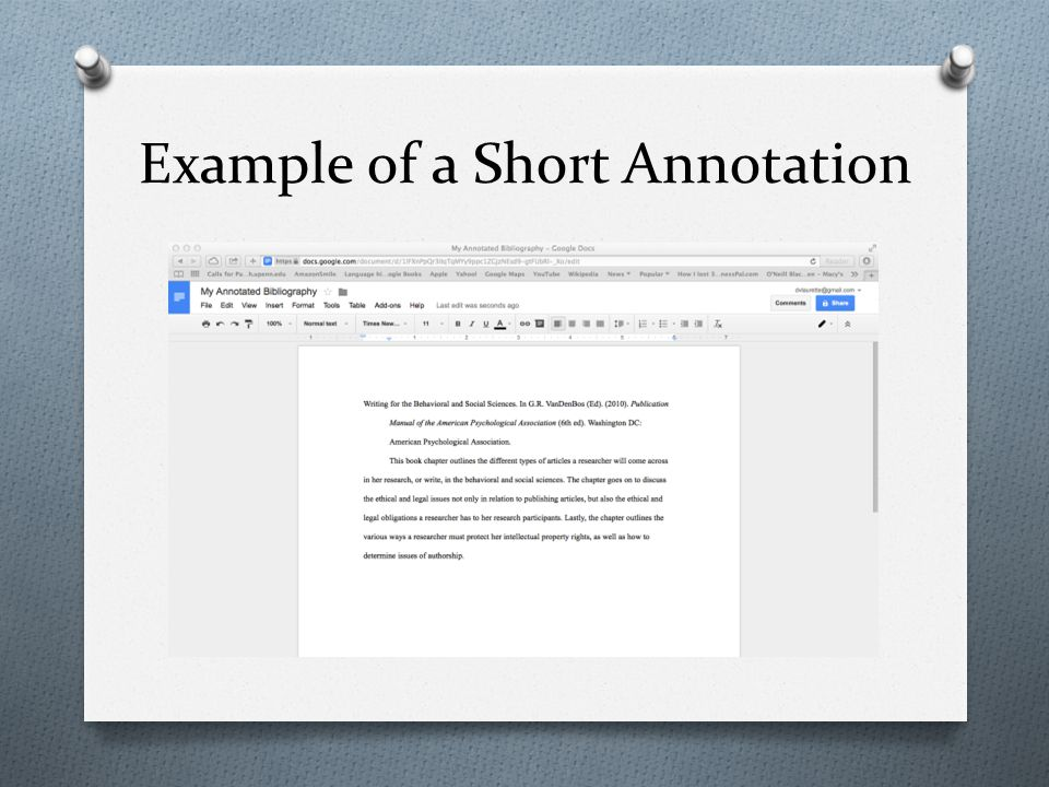 Annotated Bibliography And PowerPoint Presentations  ppt