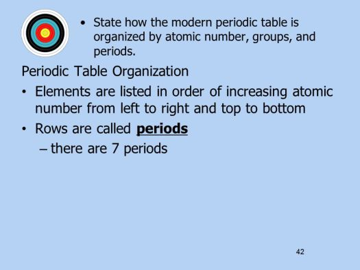 The modern periodic table is organized by atomic number periodic ch 5 atomic structure standards matter consists of atoms that 13 atomic number urtaz Images