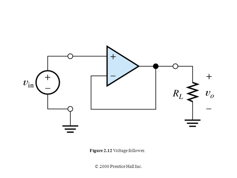 voltage follower circuit is shown infigure 26