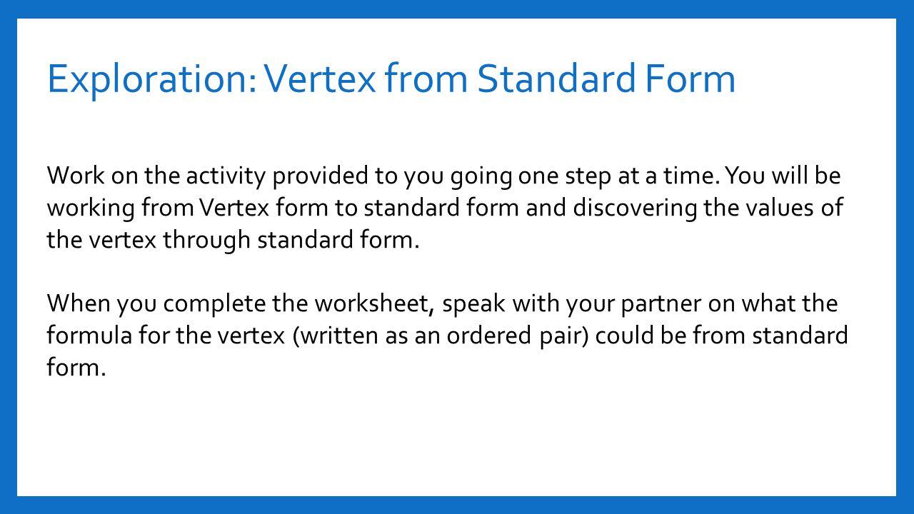Function In Vertex Form Calculator