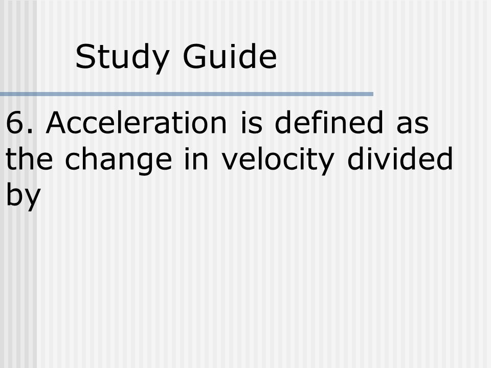 EQ 1: What is motion? How do you know you are in motion