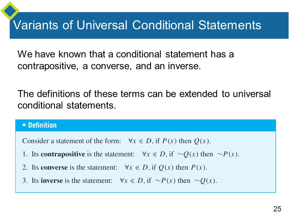 Inverse Converse Contrapositive And Conditional Statement Example