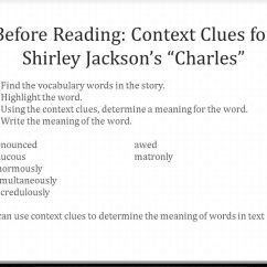 """Is A Venn Diagram Graphic Organizer Taotao 50 Wiring Shirley Jackson's """"the Lottery"""" And """"charles"""" August 13, Ppt Video Online Download"""