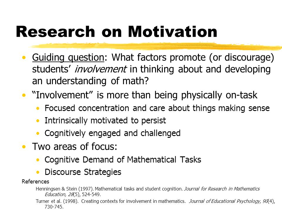 Strategies to Promote Motivation in the Mathematics