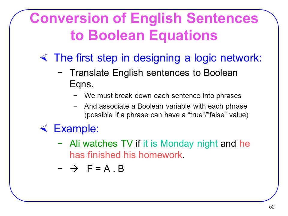 Boolean Phrase Examples